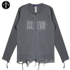 HOMME BOY (オム ボーイ) BLEW TOUR 1989 L S TEE (GREY) [ロングスリーブ Tシャツ カットソー カーディガン トップス ブランド ダメージ ストリート グランジ ロック メンズ ユニセックス 長袖 NIRVANA UNISEX] [グレー]
