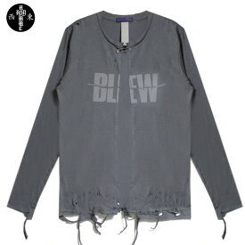 HOMME BOY (オム ボーイ) BLEW TOUR 1989 L/S TEE (GREY) [ロングスリーブ/Tシャツ/カットソー/カーディガン/ダメージ/NIRVANA/UNISEXX] [グレー]