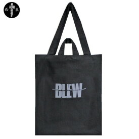 HOMME BOY (オム ボーイ) BLEW OVERSIZE TOTE BAG (BLACK) [トートバッグ オーバーサイズ ビッグ コットン ブランド ロゴ グラフィック ストリート グランジ ロック メンズ レディース ユニセックス 2WAY NIRVANA UNISEX] [ブラック]