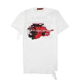 【最大70%OFF】HOMME BOY (オム ボーイ) TEE. 23B 'JBMHR' DISTRESSED (WHITE) [Tシャツ カットソー トップス ブランド ダメージ ロゴ ストリート グランジ ロック メンズ レディース ユニセックス 半袖 UNISEX] [ホワイト]