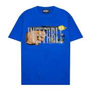 INEFFABLE(イネファブル)DON'TDIAL911CUSTOMTEE(BLUE)[Tシャツ/カットソー/グラフィック/ラインストーン/ロゴ/ヴィンテージ/UNISEX][ブルー]