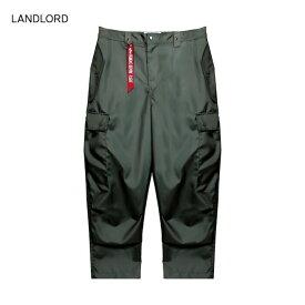 LANDLORD NEW YORK (ランドロード) ALPHA NOMEX CARGO PANTS (GREEN) [カーゴパンツ ボトムス トラウザー ブランド ミルスペック ミリタリー アーミー アルファインダストリーズ ストリート モード メンズ レディース ユニセックス UNISEX] [グリーン]