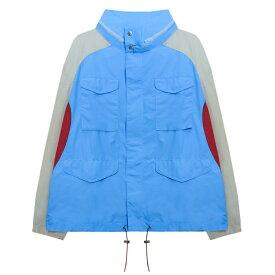 LANDLORD NEW YORK (ランドロード) GYM TEACHER M-65 JACKET (BLUE) [ジャケット ブルゾン アウター オーバーサイズ ビッグシルエット ブランド ナイロン フライト ミリタリー ストリート モード メンズ ユニセックス] [ブルー]