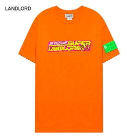 LANDLORD NEW YORK (ランドロード) AIR PRESSURE T-SHIRT (ORANGE) [Tシャツ カットソー トップス ブランド ネオン グラフィック ロゴ カジュアル ストリート モード スケート サーフ メンズ ユニセックス 半袖] [オレンジ]