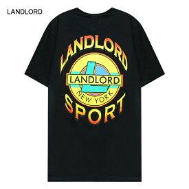 【30%OFFセール】LANDLORD NEW YORK (ランドロード) LANDLORD SPORT T-SHIRT (BLACK) [Tシャツ カットソー トップス ブランド ネオン グラフィック ロゴ カジュアル ストリート モード スケート サーフ メンズ ユニセックス 反射パネル 半袖] [ブラック]