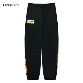 【30%OFFセール】LANDLORD NEW YORK (ランドロード) AIR PRESSURE FLEECE PANTS (BLACK) [スウェットパンツ ジョガーパンツ トラックパンツ ボトムス ブランド ロゴ グラフィック ストリート スケート サーフ メンズ ユニセックス] [ブラック]