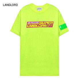 LANDLORD NEW YORK (ランドロード) AIR PRESSURE T-SHIRT (YELLOW) [Tシャツ カットソー トップス ブランド ネオン グラフィック ロゴ カジュアル ストリート モード スケート サーフ メンズ ユニセックス 半袖] [イエロー]