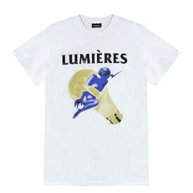 LUMIERES (ルミエール) THE DEVIL'S IN THE DETAIL TEE (WHITE) [Tシャツ カットソー トップス ブランド プリント ロゴ ストリート スポーツ スケート メンズ ユニセックス 半袖] [ホワイト]
