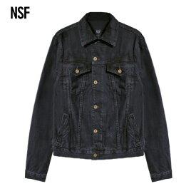 【最大50%OFF x P10】NSF CLOTHING (エヌエスエフ) ADAM DENIM JACKET (BLACK) [デニムジャケット ジーンズ アウター ブランド ヴィンテージ ダメージ カジュアル ストリート メンズ レディース ユニセックス UNISEX] [ブラック]