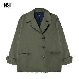 NSF CLOTHING (エヌエスエフ) MAC TWILL DYED PEACOAT (OLIVE) [ピーコート ジャケット アウター ブランド ミリタリー ヴィンテージ ダメージ カジュアル ストリート メンズ レディース ユニセックス UNISEX] [オリーブ]