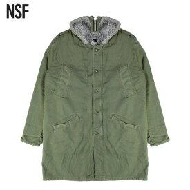【最大50%OFFセール】NSF CLOTHING (エヌエスエフ) NOSEF (ARMY GREY) [モッズコート ジャケット アウター ブランド ミリタリー ムートン ボア カジュアル ストリート メンズ レディース ユニセックス UNISEX] [アーミー グレー]