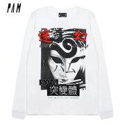 P.A.M./PERKSANDMINI(パム/パークスアンドミニ)LOSTDREAMSLSTEE(WHITE)[ロングスリーブ/Tシャツ/カットソー/トップス/プリント/グラフィック/ロゴ/UNISEX][ホワイト]