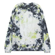 P.A.M./PERKSANDMINI(パム/パークスアンドミニ)MURKYMESSAGESTIEDYEOVERSIZEDLSTEE(SWAMPTIE)[PAMTシャツロングスリーブメンズユニセックス][スワンプタイ]