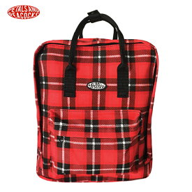 0c44c8e9a850 PETALS AND PEACOCKS (ペタルズ アンド ピーコックス) PLAID OUT BACKPACK (RED) [