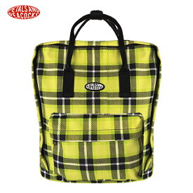 55b65f80cc06 PETALS AND PEACOCKS (ペタルズ アンド ピーコックス) PLAID OUT BACKPACK (YELLOW) [