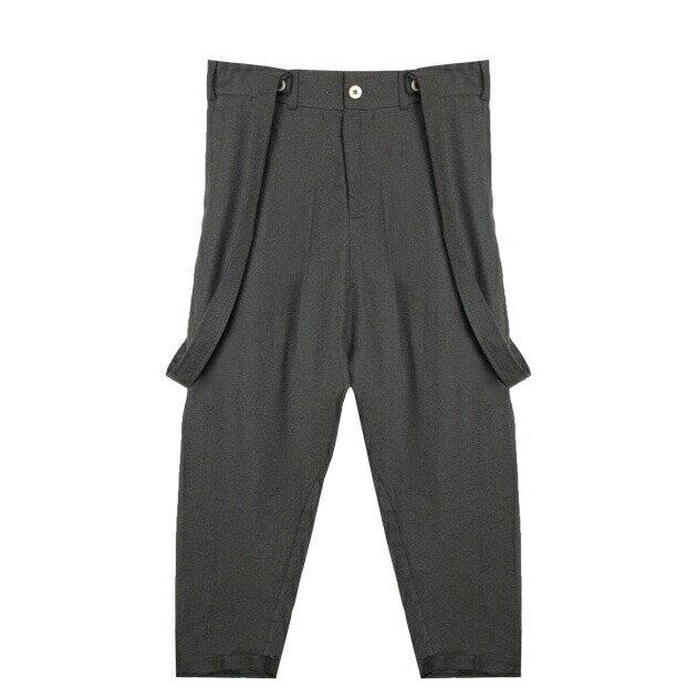 RABBITHOLE LONDON (ラビットホール) ENGINEERED PANTS (BROWN) [サスペンダーパンツ/トラウザー/スラックス/タック/千鳥格子柄/UNISEX] [ブラウン]