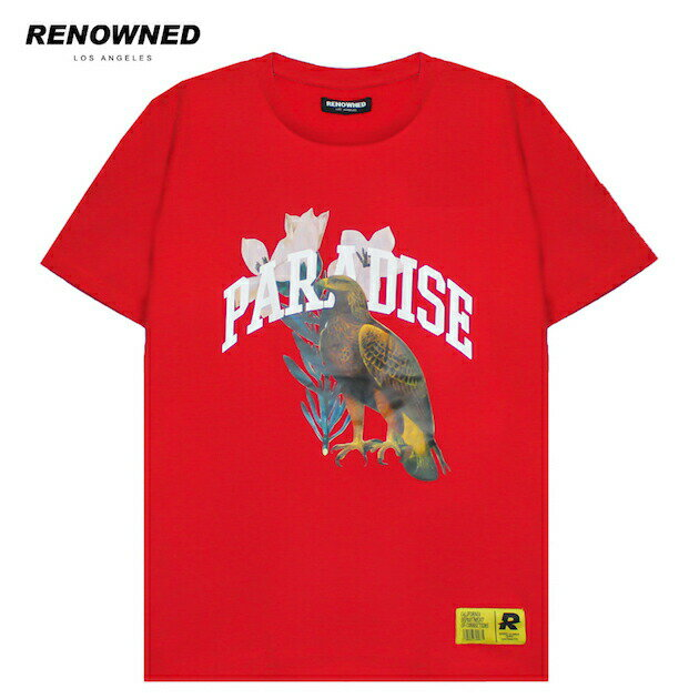 RENOWNED LA (リナウンド) PARADISE EAGLE TEE (RED) [Tシャツ/カットソー/トップス/グラフィック/ロゴ/UNISEX] [レッド]