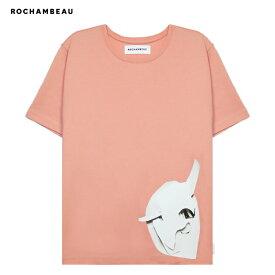 [期間限定 | 30%OFFセール] ROCHAMBEAU (ロシャンボー) CORE TEE (PEACH BEIGE) [Tシャツ カットソー トップス ブランド ロゴ ストリート モード メンズ ユニセックス 半袖] [ピーチ ベージュ]