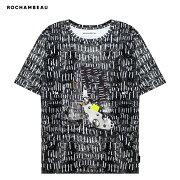 ROCHAMBEAU(ロシャンボー)CORETEE(HATCH)[Tシャツ/カットソー/グラフィック/UNISEX][ブラック]