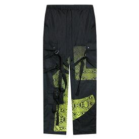 ROGIC (ロジック) GRADATION PYTHON NYLON BONTAGE PANTS (BLACK/YELLOW) [ボンテージパンツ トラック カーゴ イージー ボトムス ブランド パイソン ミリタリー ストラップ ストリート メンズ ユニセックス] [ブラック/イエロー]