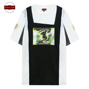 BROKENCROSS(ブロークンクロス)SPACETEE(WHITE/BLACK)[Tシャツ/カットソー/トップス/グラフィック/ロゴ/UNISEX][ホワイト/ブラック]