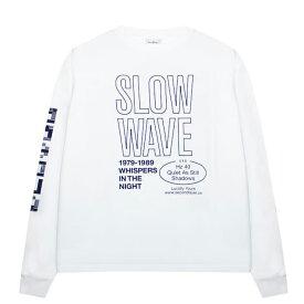 【半額50%OFFセール】SECOND LAYER (セカンド レイヤー) SPIRAL LONG SLEEVE T-SHIRT (WHITE) [ロングスリーブ Tシャツ ロンT カットソー トップス ブランド グラフィック ロゴ ストリート サーフ スケート モード メンズ ユニセックス 長袖] [ホワイト]