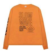 SECOND/LAYER(セカンドレイヤー)SPIRALLONGSLEEVET-SHIRT(CADIUMORANGE)[ロングスリーブ/Tシャツ/カットソー/プリント/グラフィック/ロゴ/UNISEX][オレンジ]