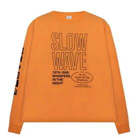【最大50%OFFセール】SECOND LAYER (セカンド レイヤー) SPIRAL LONG SLEEVE T-SHIRT (CADIUM ORANGE) [ロングスリーブ Tシャツ ロンT カットソー ブランド グラフィック ロゴ ストリート サーフ スケート モード メンズ ユニセックス 長袖] [オレンジ]