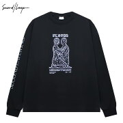 SECOND/LAYER(セカンドレイヤー)MMLONGSLEEVET-SHIRT(BLACK)[ロングスリーブ/Tシャツ/カットソー/プリント/グラフィック/ロゴ/UNISEX][ブラック]
