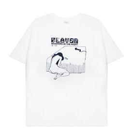 SECOND LAYER (セカンド レイヤー) WHISPERS IN THE NIGHT T-SHIRT (WHITE) [Tシャツ カットソー トップス ブランド プリント グラフィック ロゴ ストリート サーフ スケート モード メンズ レディース ユニセックス 半袖 UNISEX] [ホワイト]