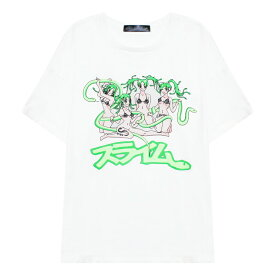 SPIRIT BY SIBERIA HILLS (シベリア ヒルズ) SLIME'S PG ANIME TEE (WHITE) [Tシャツ カットソー メンズ ユニセックス] [ホワイト]