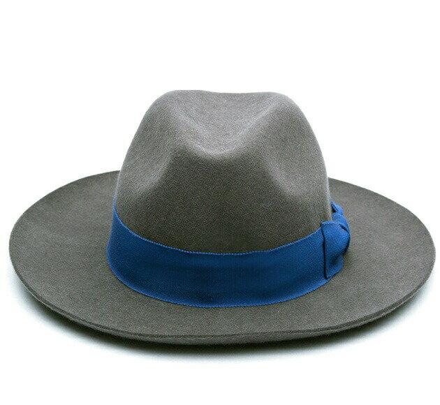 [期間限定 30%OFFクーポン] SOULLAND (ソウルランド) BILLE FEDORA HAT (DARK GREY) [フェドラハット/ワイドブリム/ロング/ウールフェルト/中折れ/UNISEX] [ダークグレー]