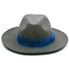 【半額50%OFFセール】SOULLAND (ソウルランド) BILLE FEDORA HAT (DARK GREY) [フェドラハット ワイドブリムハット ロング ウールフェルト ブランド カジュアル ストリート メンズ レディース ユニセックス 中折れ 帽子 UNISEX] [ダーク グレー]