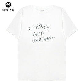 SOULLAND (ソウルランド) DARKNESS T-SHIRT (WHITE) [Tシャツ/カットソー/プリント/グラフィック/ロゴ/UNISEX] [ホワイト]