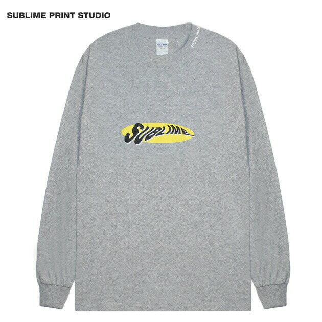 SUBLIME PRINT STUDIO (サブライム プリント ステューディオ) SUBLIME WARP LOGO LS T-SHIRT (GREY) [ロングスリーブ/Tシャツ/カットソー/グラフィック/ロゴ/刺繍/UNISEX] [グレー]