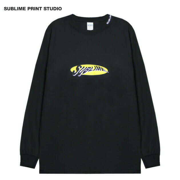 SUBLIME PRINT STUDIO (サブライム プリント ステューディオ) SUBLIME WARP LOGO LS T-SHIRT (BLACK) [ロングスリーブ/Tシャツ/カットソー/グラフィック/ロゴ/刺繍/UNISEX] [ブラック]