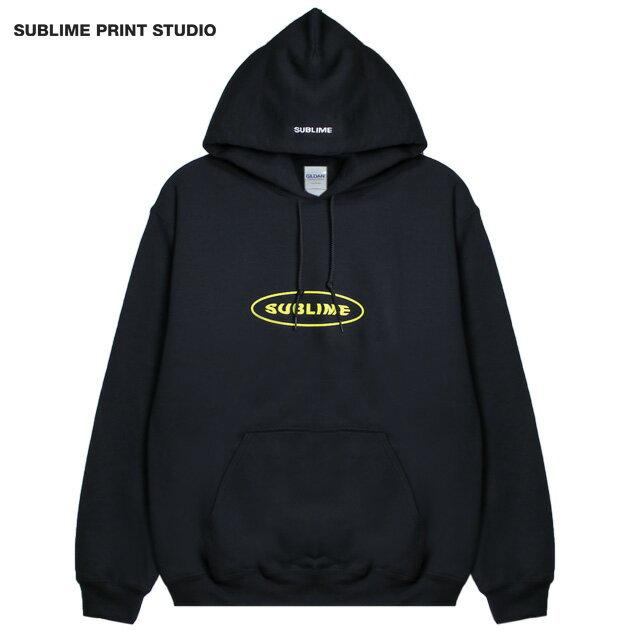 SUBLIME PRINT STUDIO (サブライム プリント ステューディオ) SUBLIME EXCLUSIVE BUBBLE LOGO HOOD (BLACK) [プルオーバーフーディ/パーカー/スウェット/グラフィック/ロゴ/刺繍/UNISEX] [ブラック]
