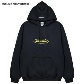 【30%OFFセール】SUBLIME PRINT STUDIO (サブライム プリント ステューディオ) SUBLIME EXCLUSIVE BUBBLE LOGO HOOD (BLACK) [プルオーバーフーディ パーカー スウェット ブランド グラフィック ロゴ ストリート メンズ ユニセックス 刺繍] [ブラック]