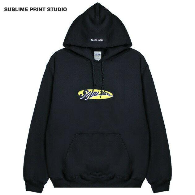 SUBLIME PRINT STUDIO (サブライム プリント ステューディオ) SUBLIME WARP LOGO HOOD (BLACK) [プルオーバーフーディ/パーカー/スウェット/グラフィック/ロゴ/刺繍/UNISEX] [ブラック]