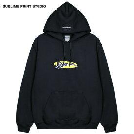 【30%OFFセール】SUBLIME PRINT STUDIO (サブライム プリント ステューディオ) SUBLIME WARP LOGO HOOD (BLACK) [プルオーバーフーディ パーカー スウェット トップス ブランド グラフィック ロゴ ストリート メンズ ユニセックス 刺繍] [ブラック]