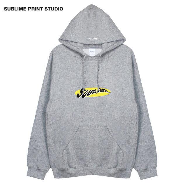 SUBLIME PRINT STUDIO (サブライム プリント ステューディオ) SUBLIME WARP LOGO HOOD (GREY) [プルオーバーフーディ/パーカー/スウェット/グラフィック/ロゴ/刺繍/UNISEX] [グレー]