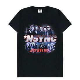 THE LOUD PACKS (ラウド パックス) NSYNC PREMIUM TEE (BLACK) [Tシャツ カットソー トップス ブランド バンド ツアー ラップ ヒップホップ インシンク アイドル アーティスト ストリート メンズ ユニセックス 半袖] [ブラック]