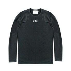 [ 50%OFF COUPON ] UEG (ウーサーエジェッタ / ユーイージー) ARMOUR SWEATSHIRT (BLACK) [スウェットシャツ トレーナー クルーネック トップス ブランド パネル オーバーサイズ ビッグシルエット ストリート モード メンズ ユニセックス] [ブラック]