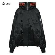 UEG(ウーサーエジェッタ)HOODEDFLYERS(BLACK)[ボンバージャケット/ブルゾン/N-3B/ロゴ/ユーイージー/UNISEX][ブラック]