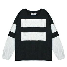 UEG (ウーサーエジェッタ / ユーイージー) SWEATSHIRT W BANNERS (BLACK/WHITE) [スウェットシャツ トレーナー タイベック メンズ ユニセックス] [ブラック/ホワイト]