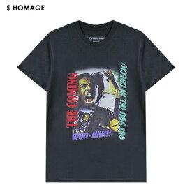 VXID (ブイエックスアイディ) BUSTA RHYMES TEE (BLACK) [Tシャツ カットソー トップス ブランド バンド ツアー ラップ ヒップホップ ストリート スポーツ スケート メンズ レディース ユニセックス 半袖 WOO-HAH UNISEX] [ブラック]