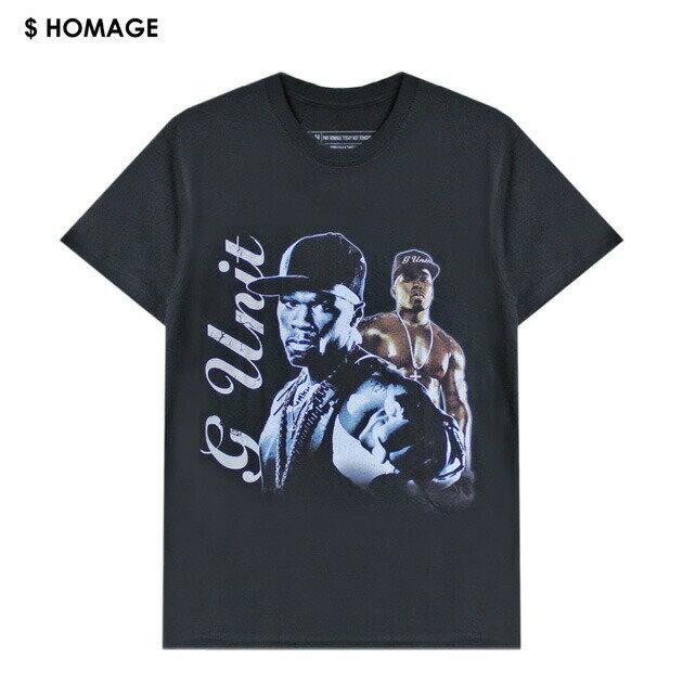 VXID (ブイエックスアイディ) 50 CENT TEE (BLACK) [Tシャツ/カットソー/バンド/ツアー/ラップ/ヒップホップ/G-UNIT/UNISEX] [ブラック]
