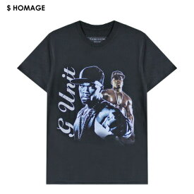 VXID (ブイエックスアイディ) 50 CENT TEE (BLACK) [Tシャツ カットソー トップス ブランド バンド ツアー ラップ ヒップホップ ストリート スポーツ スケート メンズ レディース ユニセックス 半袖 G-UNIT UNISEX] [ブラック]