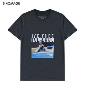 VXID (ブイエックスアイディ) ICE CUBE TEE (BLACK) [Tシャツ カットソー トップス ブランド バンド ツアー ラップ ヒップホップ ストリート スポーツ スケート メンズ ユニセックス 半袖 THE PREDATOR] [ブラック]