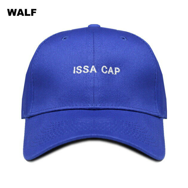 WALF (ウルフ) ISSA CAP (BLUE) [6パネルキャップ/ベースボール/ラップ/ヒップホップ/21 SAVAGE/UNISEX] [ブルー]